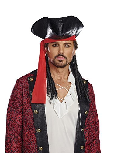 Jack Sparrow Hat (Dreamgirl Pirate Hat (Men's), Black,)