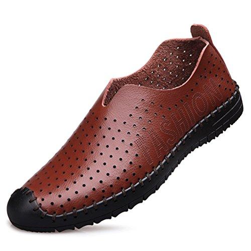 Sintético Marrón Material Feidaeu Hombre Zapatos de x0YqxRvT