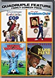 DVD : Family Comedy Pack Quadruple Feature (Kindergarten Cop / Problem Child / Kicking and Screaming / Major Payne)