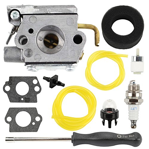 Buckbock 753-05133 Carburetor with Adjusting Tool Kit for WT-827 WT-827-1 MTD Troy-Bilt TB10CS TB20CS TB20DC TB310QS TB320BV TB65SS TB70FH TB70SS Gas Trimmer by Buckbock