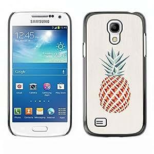 LECELL--Funda protectora / Cubierta / Piel For Samsung Galaxy S4 Mini i9190 MINI VERSION! -- Pineapple Polygon Minimalist Weed --