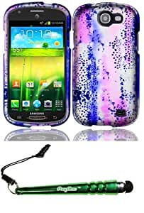 FoxyCase(TM) FREE stylus AND For Samsung Galaxy Express i437 Rubberized Design Cover Case - Animal Lines cas couverture