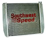 NEW SOUTHWEST SPEED RACING FORD ALUMINUM RADIATOR, 19'' TALL X 29'' WIDE X 3'' THICK