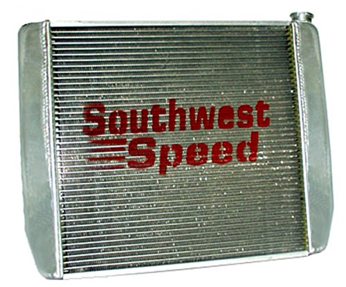 NEW SOUTHWEST SPEED RACING FORD ALUMINUM RADIATOR, 19'' TALL X 29'' WIDE X 3'' THICK by Southwest Speed