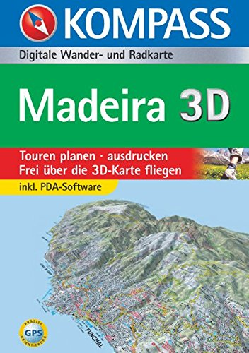 Madeira 3D: Digitale Wander- und Radkarte (KOMPASS Digitale Karten, Band 4234)
