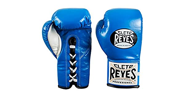 Cleto Reyes Safetec Professional Boxing Fight Gloves Blue