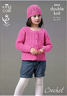 5aa60d88600e4 Sirdar Snuggly DK Cardigan and Coat Knitting Pattern 4493  Amazon.co ...