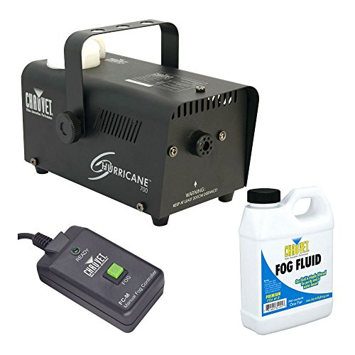 [Chauvet H-700 Hurricane 700 Halloween Fog/Smoke Machine with Fluid & Remote] (Big Fog Machine)