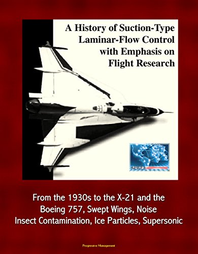 A History of Suction-Type Laminar-Flow Control with Emphasis on Flight Research - From the 1930s to the X-21 and the Boeing 757, Swept Wings, Noise, Insect Contamination, Ice Particles, (Boeing Space Plane)