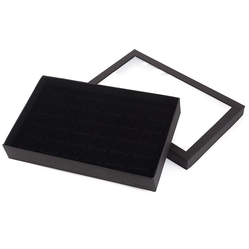 Febelle Hot 36 Slots Ring Storage Ear Display Box Jewelry Organizer Holder