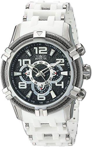 Men's 'Bolt' Quartz Stainless Steel Casual Watch, Color:White (Model: ) - Invicta 25554