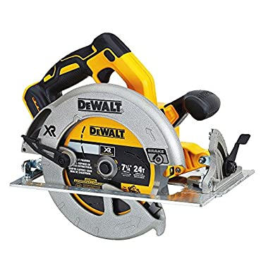 DeWalt DCS570B 7-1/4 (184mm) 20V Cordless Circular Saw with Brake, Baretool