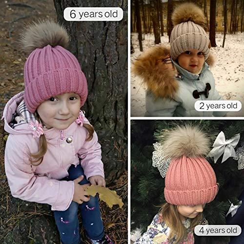 FURTALK Kids Winter Pom Pom Hat - Knitted Beanie Hats for Children Girls Boys Original by FURTALK (Image #5)