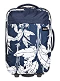 Roxy Womens Feel The Sky 35L - Wheeled Cabin Suitcase - Women - One Size - Blue Mood Indigo Flying Flowers S One Size