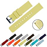 BARTON Quick Release - Choice of Colors & Widths (18mm, 20mm or 22mm) - Happy Yellow 18mm Watch Band Strap