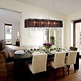 LightInTheBox Stylish Pendant Light with 4 lights (Fabric Shade), Modern Home Ceiling Light Fixture Flush Mount, Pendant Light Chandeliers Lighting
