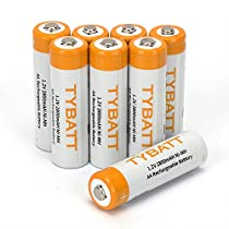 AA Batteries Rechargable, 2800mAh Ni-MH All-Purpose Double A Battery for Household and Business - 8 Count
