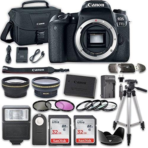 Canon EOS 77D DSLR Camera Bundle  with Accessory Kit