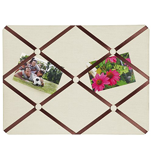 (Breeze Point A99509 Fabric Memo & Photo Board/Bulletin Board with Ribbons, 15.75