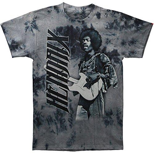 Jimi Hendrix Tie Dye T-shirt (Jimi Hendrix Men's Crosstown Traffic Tie Dye T-shirt Medium Grey)