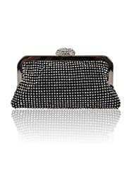 Hynes Eagle Crystal Shinning Lure Evening Clutch Handbags