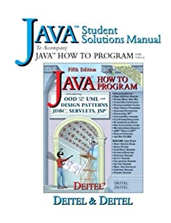 Java how to program fifth edition student solutions manual java student solutions manual to accompany java how to program 5th edition fandeluxe Choice Image
