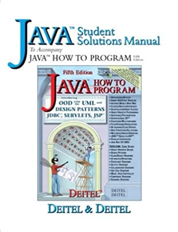 java student solutions manual to accompany java how to program 5th rh amazon com Deitel C.pdf Deitel 2017