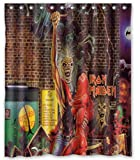 Shower Curtain Iron Maiden Theme, Creative Shower Curtain Bathroom Waterproof Polyester Fabric / with Hooks (bring your daughter to the slaughter, 66x72)