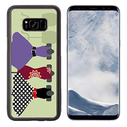 Liili Premium Samsung Galaxy S8 Plus Aluminum Backplate Bumper Snap Case Dummy with dress IMAGE ID (Disco Footwear)