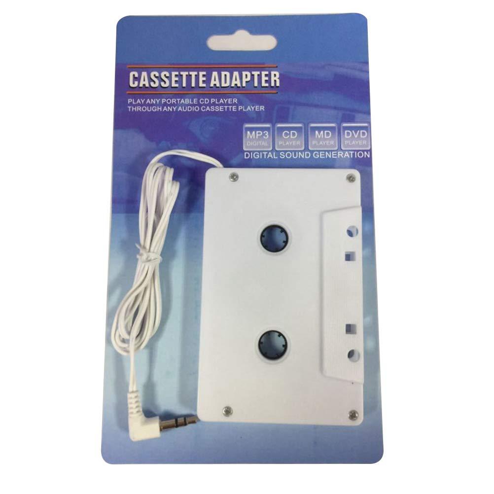 CD lecteurs MP3 baladeur Adaptateur Cassette Universel Autoradio avec Sortie jack 3,5mm Mallalah pour iPod Smartphone et Tablette Mobile iPhone