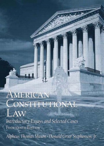 american constitutional law introductory essay and selected cases Download and read american constitutional law introductory essays and selected cases 14th edition american constitutional law introductory essays.