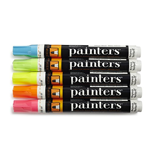 Elmer's Painters Neon Bright Opaque Paint Markers, Medium (Pack of 5)
