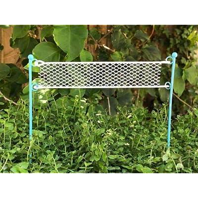 Statue Out Mini Metal Beach Volleyball Net Pick - Fairy Garden Miniature : Garden & Outdoor