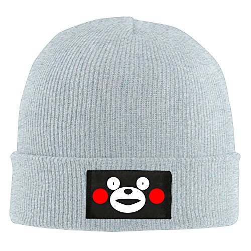 [NVVM Cute Kawai Japan Bear Men & Women Knitted Beanie Cap Hat Knit Skully Hat Ash] (Bollywood Costumes For Men)