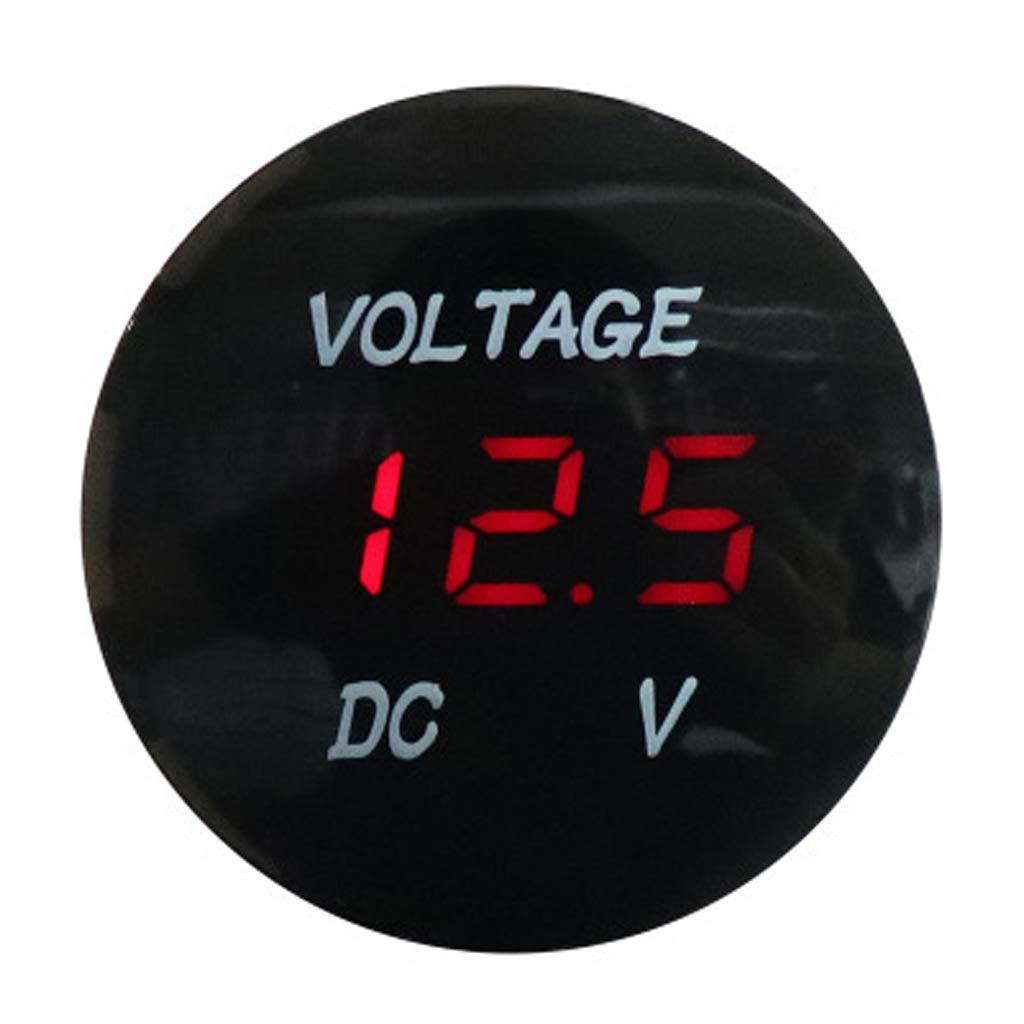 Red B Blesiya Voltage Meter Gauge Tester Waterproof DC5V-48V for ...