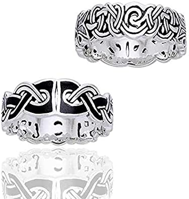 Amazon Com Mammen Weave Viking Knot Wedding Band Norse Celtic Sterling Silver Ring Sizes 4 5 6 7 8 9 10 11 12 13 14 15 Jewelry