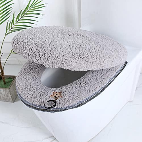Rongxin Toiletbril Mat SetBathroom Universele 2 stks/set Kussen+deksel Cover Warm Zacht Wasbaar Closestool Seat Case…