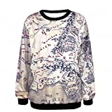 Crochi Lord of The Rings Hoodie Middle Earth Map Punk Women Sweat3D Print Heart Breaker Printed Casual Hoodies One Size