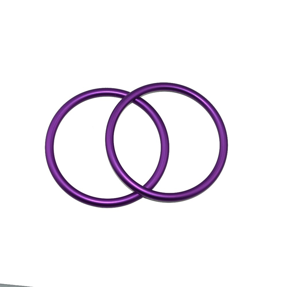 Topind Grands anneaux aluminium pour écharpe porte-bébé, 7cm environ, violet, lot de 2 Shanxi Top Industries Co. Ltd.