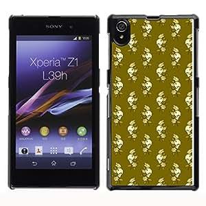 iKiki-Tech Estuche rígido para Sony Xperia Z1 L39H - Skull And Rose