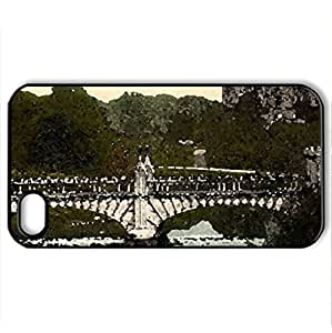 Beautyful Landscapes - Case Cover for iPhone 4 and 4s (Bridges Series, Watercolor style, Black)