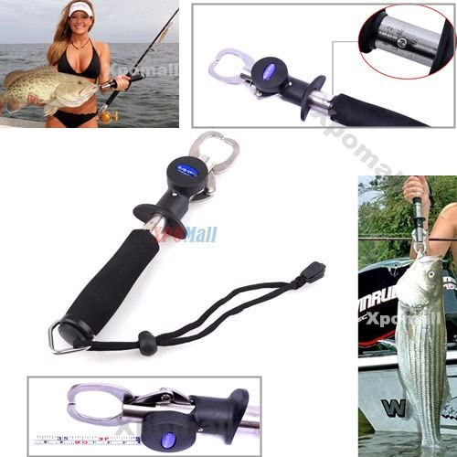 3in1 Fish Fishing Lip Grip Gripper Bass With 33lbs Weight Scale+3Ft Inches Ruler