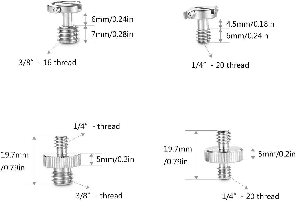 pour Camera Tr/épied ou Plaque de Lib/ération Rapide SMALLRIG Vis Lot de 8 1074