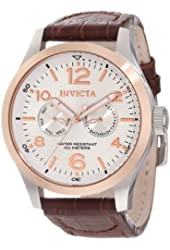 Invicta Watches Mens I-Force Genuine Leather Band Watch