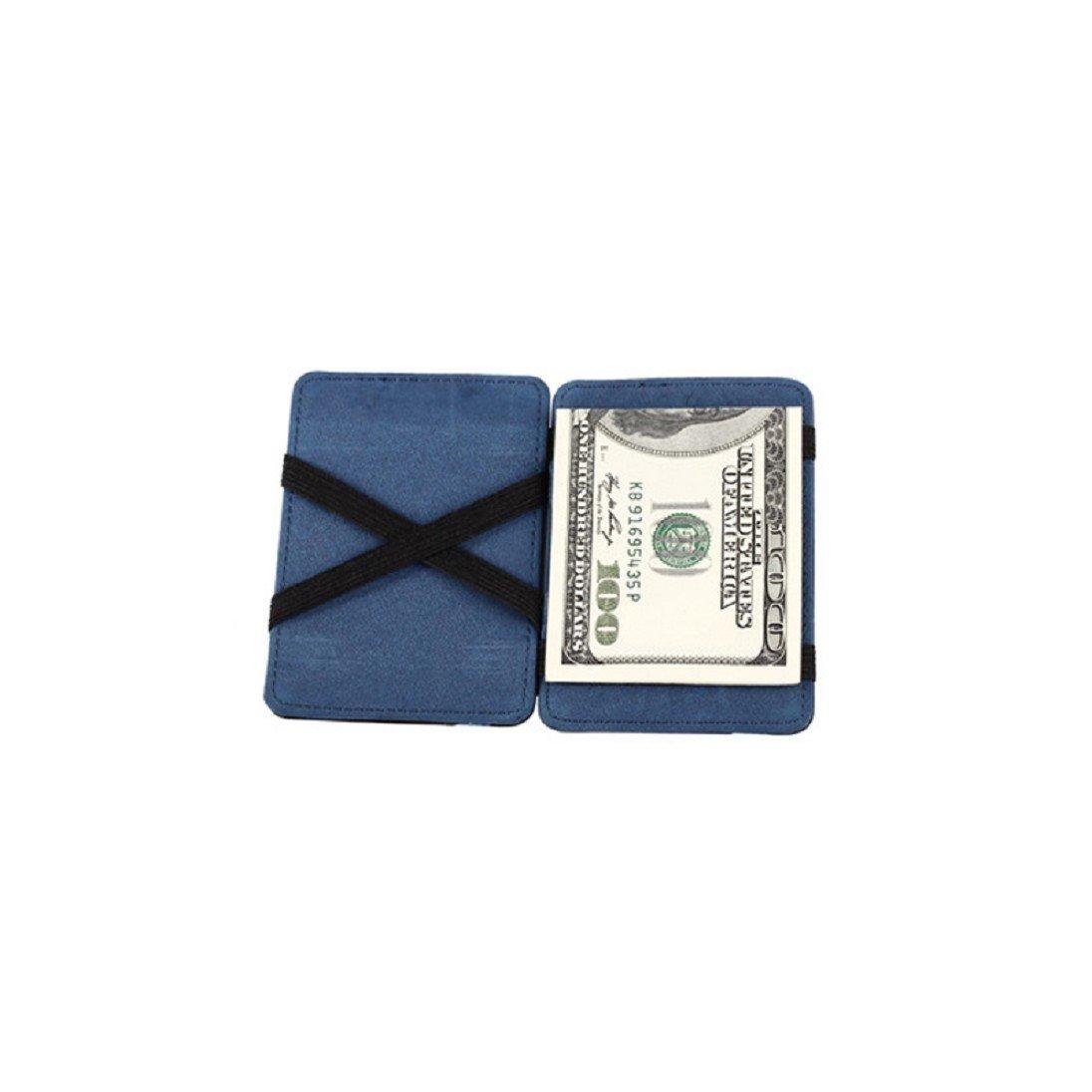 Voberry DDLBiz® Mini neutrale Grind magische Bifold Leder Card Wallet Geldbörse M_AB