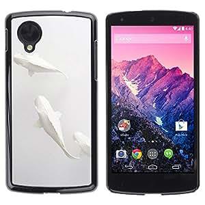 Be Good Phone Accessory // Dura Cáscara cubierta Protectora Caso Carcasa Funda de Protección para LG Google Nexus 5 D820 D821 // Fish Minimalist Paper Pencil Art