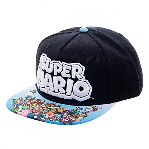 Youth Super Mario Sublimated Bill Snapback (Bowsers Kids)