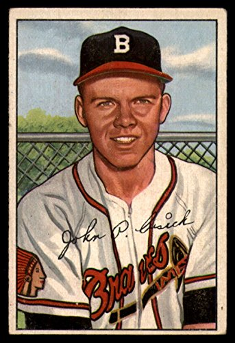 1952 Bowman #192 John Cusick Bos Braves MLB Baseball Card (RC - Rookie Card) G/VG Good/Very Good ()