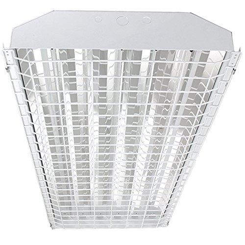 HENO 6-Lamp Caged T5 Fluorescent High Bay 120v-277v