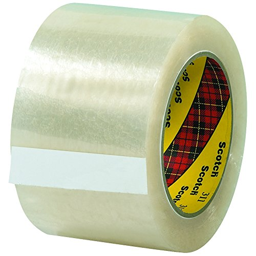 Scotch T905311 Clear #311 Carton Sealing Tape, 3